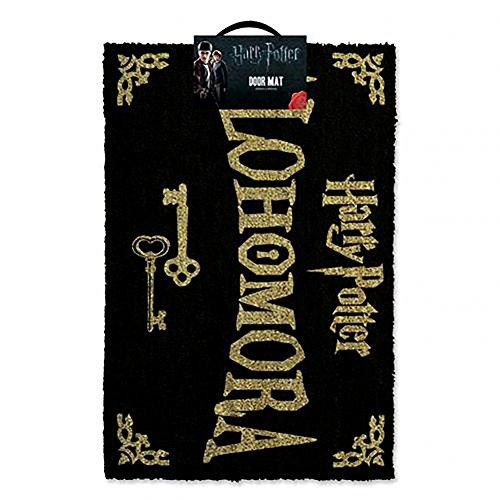 Harry Potter Alohamora Türmatte Coco Fußmatte 40 x 60 cm, Fibre, Schwarz und Gold, 60 x 40 x 1,5 cm
