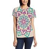 Mandala Art Image - Camiseta informal de manga corta para mujer, diseño de túnica Bm002 XXL