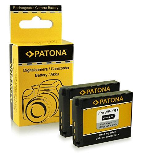 PATONA 2X Akku NP-FR1 kompatibel mit Sony CyberShot DSC-F88 DSC-G1 DSC-P100 DSC-P200 DSC-T50