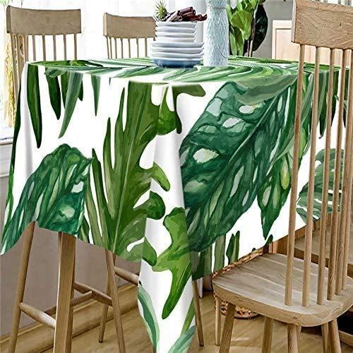 WSJIABIN Paño de Mantel Plantas Verdes Frescas de Pastoral Mantel Multifuncional A Prueba de Aceite Antifouling Mantel Rectangular Adecuado para Mantel de Picnic de Interior y Exterior, 140cm*140cm