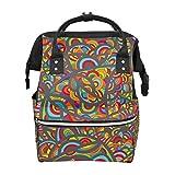 Pop Art Hippie Girly Sac à dos d'école, grande capacité, sac à main pour ordinateur portable, sac à dos décontracté, sac à dos de voyage pour femmes, hommes, adultes, adolescents et enfants