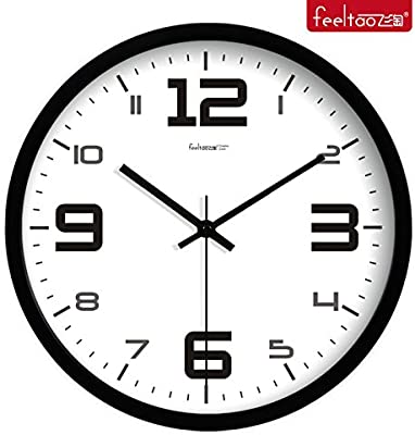 BYLE Wall Clock Quartz Mute Non-Ticking Silent Kitchen Living Room Battery Innovative Modern Silent