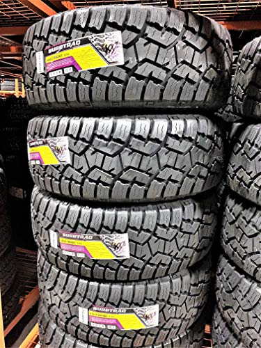 top 10 all terrain tires 4 (4) Suretrac Wide Climber A / T II-35X12.50R20 LT 121S LRE Universal Radial Tire, 10-Ply Set