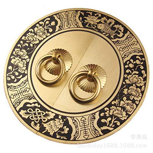 (2 stuks) Chinese antieke kast, rond, meubelgreep, koper, accessoires, schoenenkast, kast, koper, retrogreep, handgrepen, deur, kast, badkamer enz. incl.