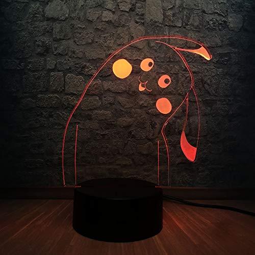 Nur 1 Pikachu Cute Style 3D USB LED Beleuchtung Illusion Baby Home Nachtbett Nachtlicht Dekor Kind Geschenk