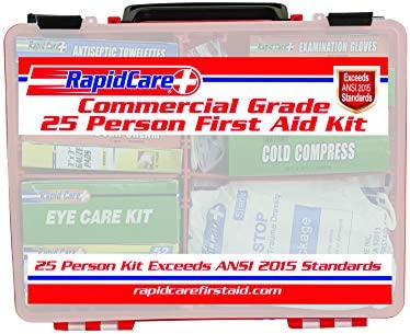 Rapid Care First Aid 839 1 12AN Premium Commercial Grade 25 Person First Aid Kit Exceeds OSHA product image