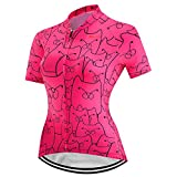 PSPORT Traje de ciclismo para mujer manga corta con 3D acolchado Ciclismo Pantalones cortos transpirable bolsillo camisa