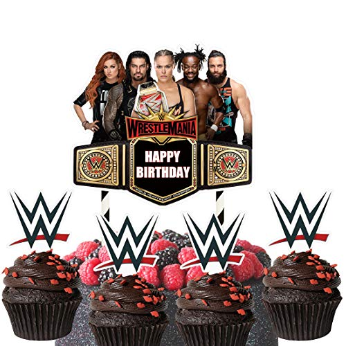 Cake Decorations for Wwe Cake Topper Cupcake Toppers Birthday Decorations Party Supplies for Children