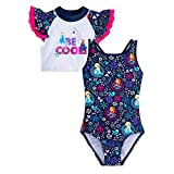 Disney Frozen Swimsuit and Rash Guard Set for Girls- Size 3
