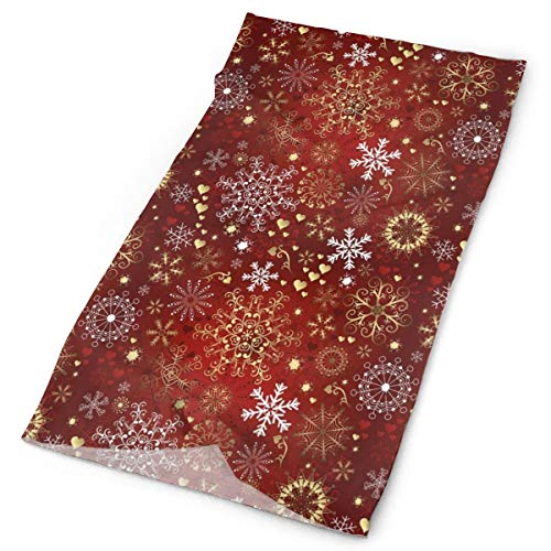 GUUi Headwear Headband Head Scarf Wrap Sweatband,Old Fashioned Christmas Mix with Hearts and Swirls Vintage Festive Composition,Sport Headscarves for Men Women