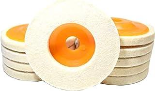 A'sTool ディスクサンダー グラインダー バフ 10枚 20枚 取替用 羊毛フェルト 10cm 汎用 (普通毛10枚)