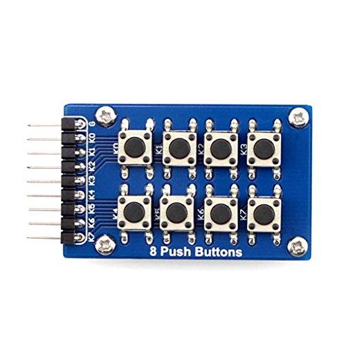 Mastererin 8 Drucktasten 4x2 2x4 Matrix Tastatur Single Key Zubehör Board Modul (Anordnung als 2x4 in einer Platte)