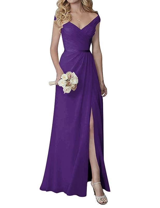 H.S.D Bridesmaid Dress V Neck Evening Party Dress Slit Bridesmaid Gowns Long Prom st163215401