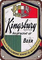 キングズベリービール錫サイン壁の装飾金属ポスターレトロプラーク警告サインオフィスカフェクラブバーの工芸品