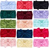 Baby Headbands Turban Knotted, Girl's Hairbands for Newborn, Toddler and Children's (Mixed 15)