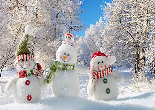 AIIKES 2.1Mx1.5M/7x5FT Bosque Fotografía Fondo de Navidad Fondo de Muñeco de...