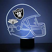 Mirror Magic Store Pro Football Helmet Sports Fan Lamp - Personalize for Free - Featuring Licensed Decals (Raiders (Las Vegas))