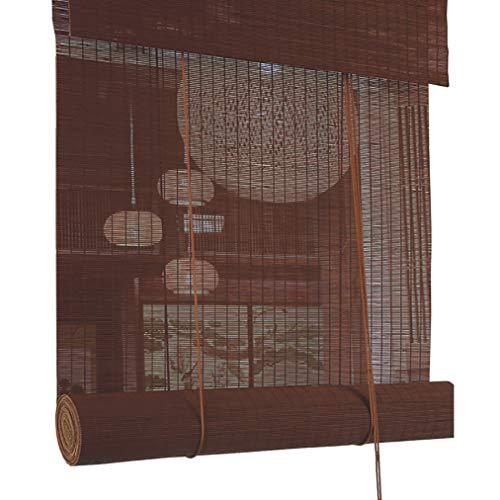 JCJ-Shop Retro Türvorhang Dekoration Fenster Rollo mit Valenz Lichtfilter UV-Schutz für Tea Room Office Langlebige Bambuslatten (17.7X39.4Inch)