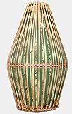 Tambor de fibra Mridangam | Vrindavan Bazaar (Verde)