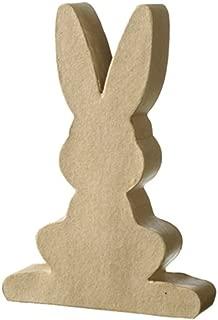 Paper Mache Flat Easter Bunny Rabbit Shape - 11cm   Papier Mache Shapes