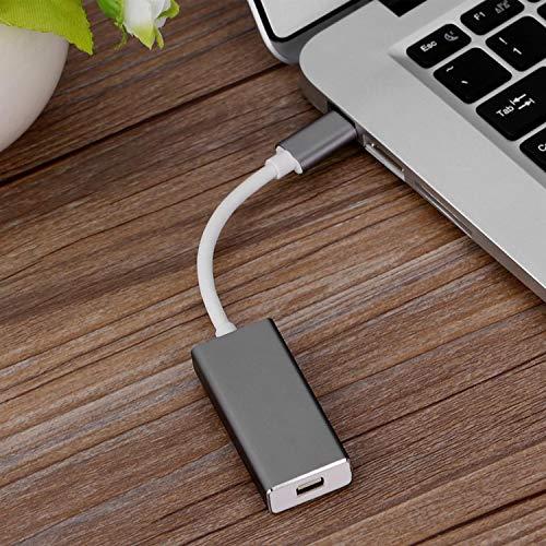 Adaptador USB C a Mini Displayport (4K@60Hz), USB Tipo C a Mini DP Converter Compatible con computadoras portátiles USB-C a una pantalla de cine LED habilitada para Mini DP, monitor (gris)