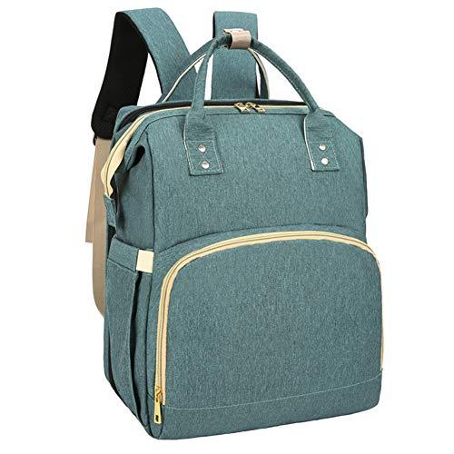 iClosam Bolsa portátil para mamá – Bolsa de pañales con cuna plegable, multifuncional de gran capacidad para bebé pañal organizador de mochilas, impermeable y lavable