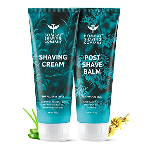 Bombay Shaving Company Shaving Cream and Post-Shave Balm After Shave, 100 g