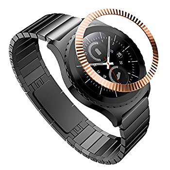 TiMOVO Bezel Ring Compatible with Galaxy Watch 42mm/Gear Sport/Gear S2 Premium Stainless Steel Bezel Styling Dial Protective Watch Accessory Fit Galaxy Watch 42mm/Gear Sport/S2 - Rose Gold