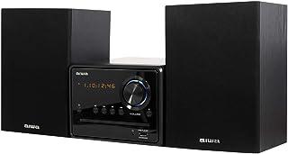 Aiwa MSBTU-300, Microcadena Hi-Fi con Bluetooth, CD, USB, Radio FM, Negro