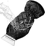 Raspador antihielo con guante forrado para automóviles, SUV y furgonetas, resistente al descongelamiento de parabrisas y ventanas de automóvil Ideal para invierno contra hielo y escarcha Transparente