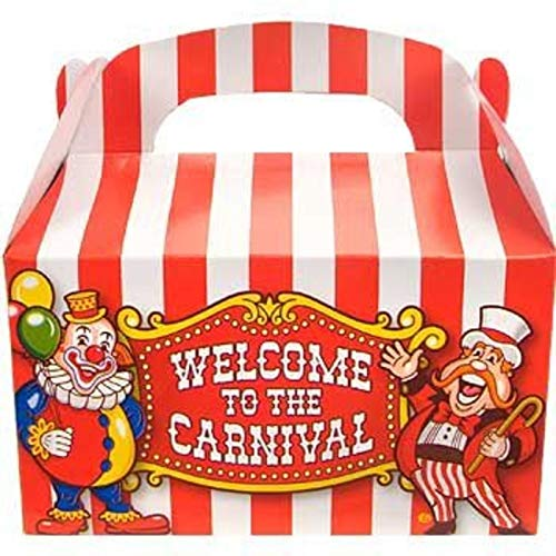 Big Top Carnival Treat Boxes - 12 per unit by Oriental Trading Company TOY (English Manual)