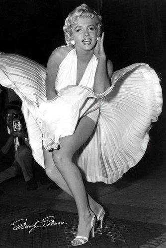 empireposter - Monroe, Marilyn - Seven Year Itch B/W - Größe (cm), ca. 61x91,5 - Poster, NEU -