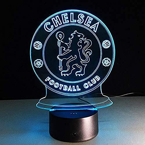 3D Nachtlicht Led Football Club 3D Lampe Usb 7 Farbe Cool Glowing Base Home Dekoration Tischlampe Kinder Schlafzimmer Nachtlichter