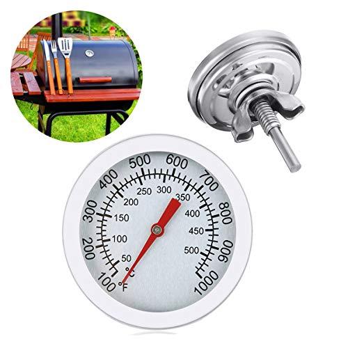 EAGLESTIME Grill Thermomete,Edelstahl BBQ Thermometer für alle Grills, Smoker, Räucherofen und Grillwagen, Doppelte Temperaturanzeige 50-500℃/100-1000℉