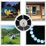 JBlWSGT Luz solar para poste de bandera, impermeable, ahorro de...