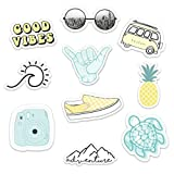 Stickers for Water Bottles–(10 Pack) Cute Waterproof and Perfect for Laptop, Hydro Flask, Yeti, Car, Phone - Trendy Decal Water Bottle Stickers - Quality Vinyl VSCO Aesthetic Sticker Pack-Made in USA