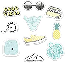 Stickers for Water Bottles–(10 Pack) Cute Waterproof and Perfect for Laptop, Hydro Flask, Yeti, Car, Phone-Trendy Decal Water Bottle Stickers-Quality Vinyl VSCO Aesthetic Sticker Pack