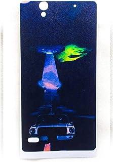 جراب حماية خلفي بتصميم مطفي من الجيلاتين مع حماية للجوانب لموبايل سوني اكسبيريا C4