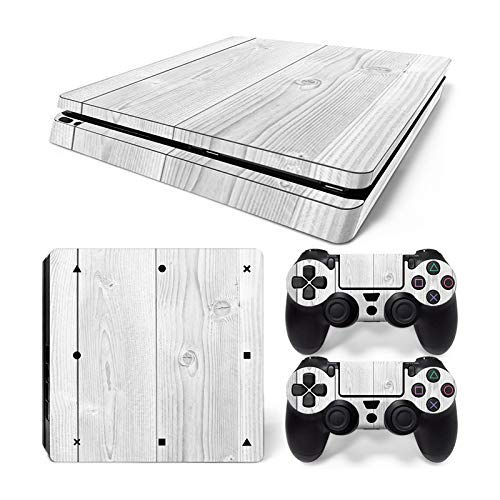 Mcbazel Pattern Series Vinyl Skin Sticker For PS4 Slim Controller & Console Protect Cover Decal Skin (Wood)