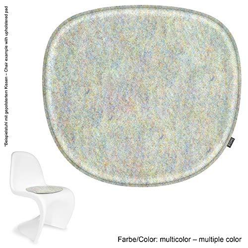 Feltd. Eco Filz Kissen geeignet für Verner Panton Chair - 29 Farben - optional inkl. Antirutsch und gepolstert! (Multicolor)