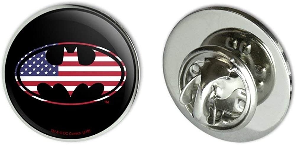 GRAPHICS & MORE Batman USA American Flag Shield Logo Metal 0.75