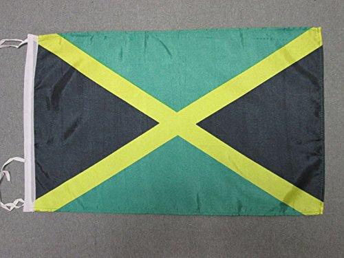 AZ FLAG Bandiera Giamaica 45x30cm - BANDIERINA GIAMAICANA 30 x 45 cm cordicelle