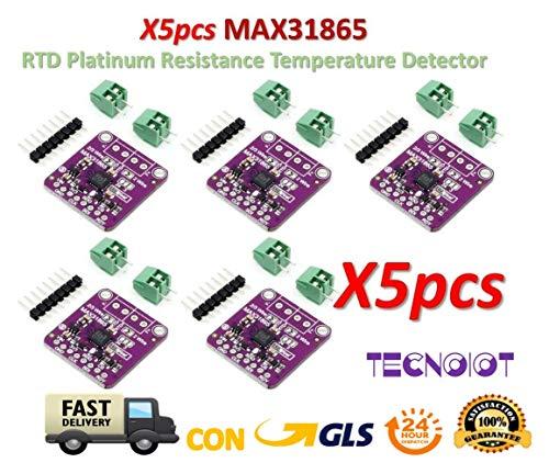 TECNOIOT 5pcs MAX31865 RTD Platinum Resistance Temperature Detector Module PT100 - PT1000