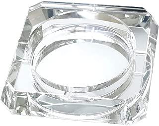 MCGMXG Square Ashtray/Crystal Glass Ashtray/Bedroom Living Room Fashion Decoration Ashtray (Color : Silver)