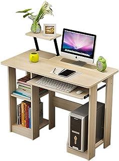 Bureau D'ordinateur l'espace occupé Bureau d'ordinateur avec 2 Niveau Ouvert de Rangement for Home Office Poste de Travail...