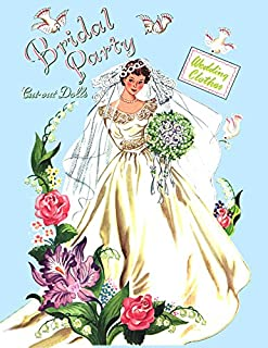 #0346- Bridal Party of 1950, Blue Covers, Restored Paper Doll Book