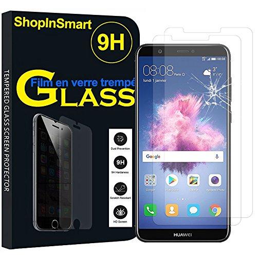 ShopInSmart® 2x Hochwertige gehärtete Panzerglasfolie für Huawei P smart 5.65