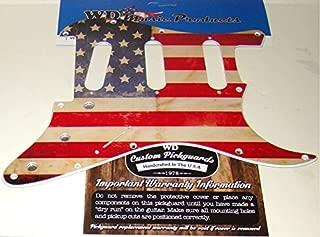 AMERICAN FLAG RELIC PICKGUARD FOR FENDER STRAT, FLOYD ROSE BRIDGE ROUT