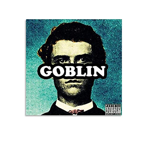 Lilizi Singer Tyler The Creator Goblin Album Cover Canvas Art Poster and Wall Art Picture Print Modern Family Bedroom Decor Posters 12x12inch(30x30cm)