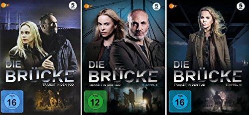 Die Brücke - Transit in den Tod: Staffel 1-3 (15 DVDs)